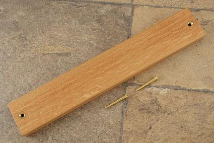 Quartered White Oak Magnetic Knife Strip (12