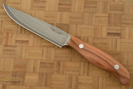 Gatsby Steak Knife with SG2 Stainless Damascus San Mai and Santos Rosewood