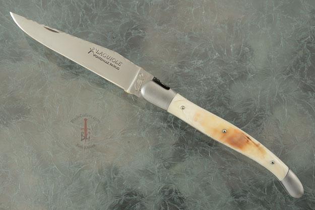 Laguiole Guilloché Picnic Knife, Warthog Tusk