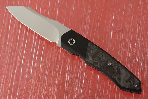 Mini Simba Tactical Interframe Front Flipper with Marbled Carbon Fiber (IKBS)