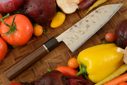 Chef's Knife (Santoku) - Tsuchime Shirogami #1 (Carbon Steel) - 6 1/2 in. (165mm)