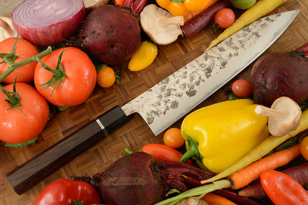 Chef's Knife (Gyuto) - Tsuchime Shirogami #1 (Carbon Steel) - 9 1/2 in. (240mm)