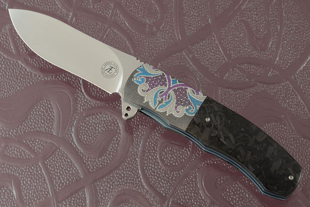 L46 Flipper with Shred Carbon Fiber and Zirconium (Ceramic IKBS)