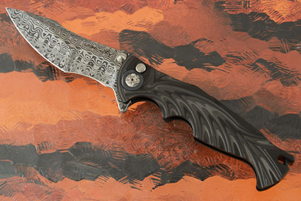 Tighe Breaker Integral with Uni-Directional Carbon Fiber and Damasteel