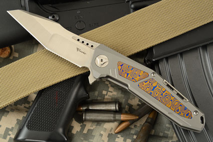 K-3 Flipper - Ti, Moku-ti, and Satin Finished CTS-204P Tanto