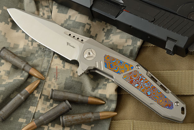 K-3 Flipper - Ti, Moku-ti, and Satin Finished CTS-204P Drop Point