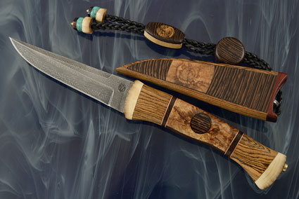 Jule - Nordic Utility with Feather Pattern Damascus