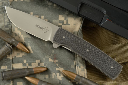 Boker Plus FR Flipper with Carbon Fiber - IKBS (01BO743)