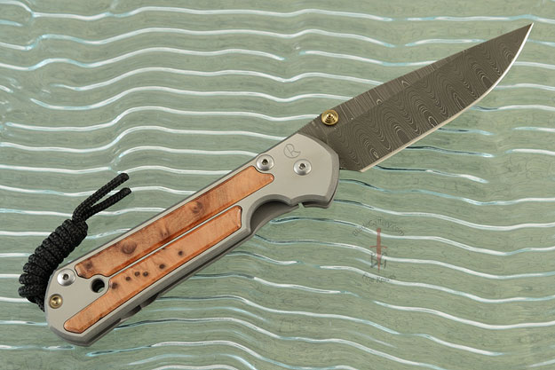 Large Sebenza 21 with Thuya Burl and Laddered Damascus - Left Handed