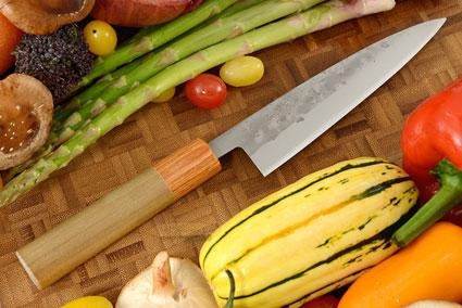 Nashiji Fruit Knife - 5 1/2 in (135mm) - Oval Handle
