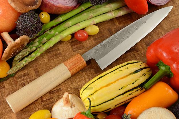 Nashiji Slicing Knife (Hiraki) - 6 1/2 in (165mm) - Oval Handle