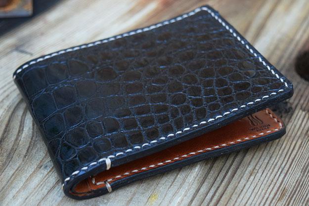 Black Alligator Bifold Wallet