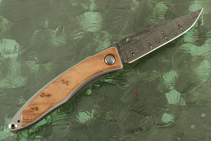 Mnandi with Thuya Burl and Basketweave Damascus - Left Handed