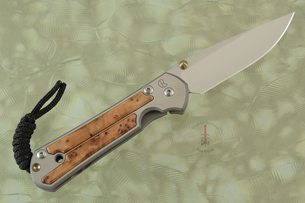 Small Sebenza 21 with Thuya Burl - Left Handed