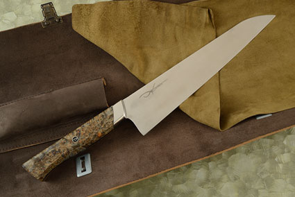 Ladon Gyuto (Chef Knife) with Maple Burl (9.2 in)