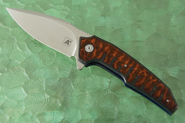A6 Interframe Flipper with Snakewood and Carbon Fiber (Collaboration with Tashi Bharucha) - Ceramic IKBS
