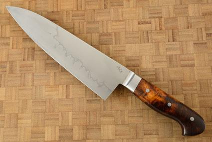 Chef Knife (Gyuto) - Mizu-Honyaki with Ironwood (8-1/4 in.)