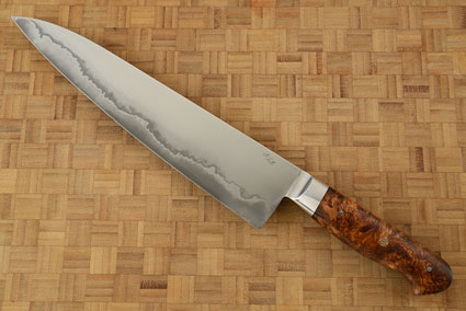 Chef's Knife (Gyuto) - San Mai with Honduran Rosewood (9.8