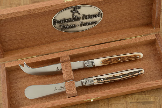Laguiole Cheese Knife Set with Stag