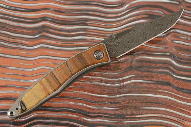 Mnandi with Spalted Beech and Raindrop Damascus (Chad Nichols) - Left Handed