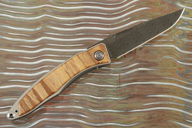 Mnandi with Spalted Beech and Laddered Damascus - Left Handed