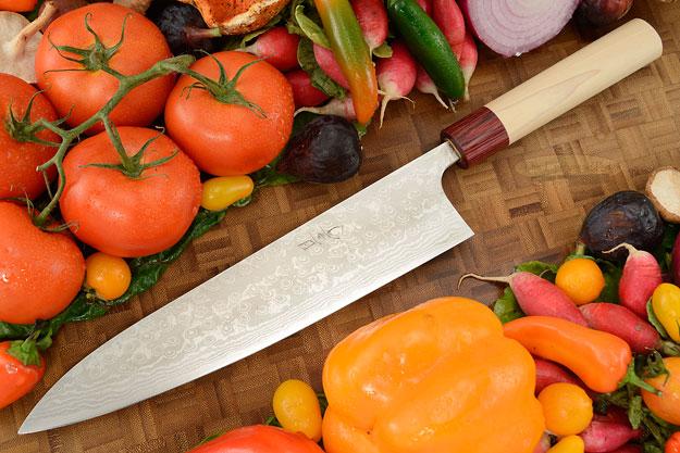 Asai Enji Damascus Chef's Knife - Gyuto - 9 1/2 in. (240mm)
