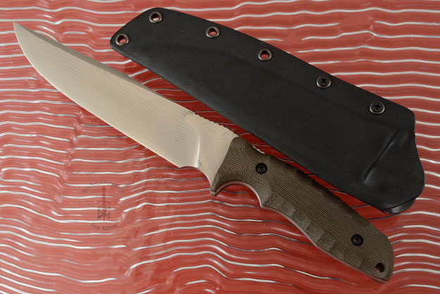 Ise with Green Linen Micarta (SG2)