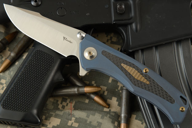 New Torrent Flipper - Blue Ti/Carbon Fiber and Differentially Finished RWL-34