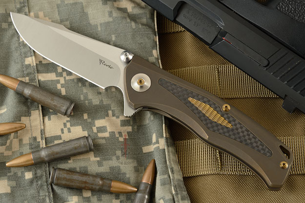 New Torrent Flipper - Bronze Ti/Carbon Fiber and Differentially Finished RWL-34