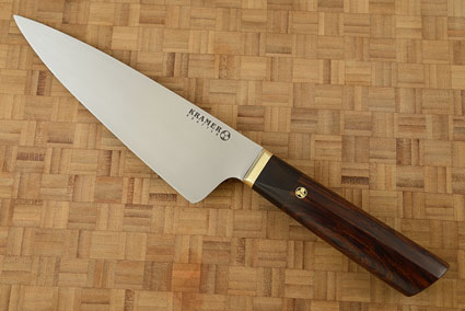 Meiji Chef's Knife (8 in) with Cocobolo and Ebony - Left Handed