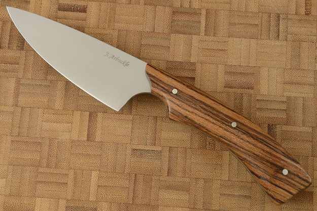 Chef's Knife (3-3/4 in) with Zebrano