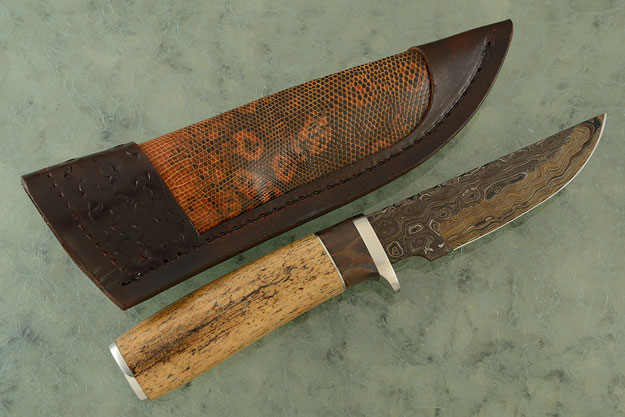 Damascus Hunter with Steller's Sea Cow and Buckeye