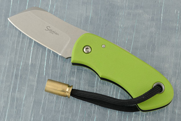 Chappy Friction Folder with Neon Green and Black G-10
