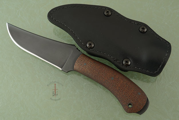 Crusher Belt Knife with Burlap Micarta and Caswell Finish