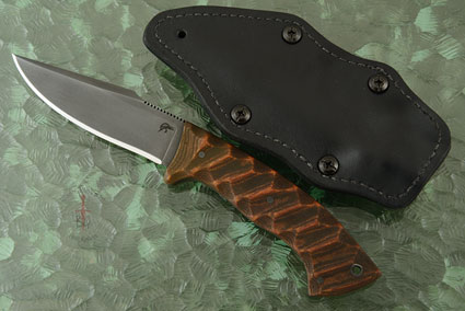 Pathfinder with Sculpted Relic Tan Micarta and Caswell Finish (Jason Knight Collaboration)