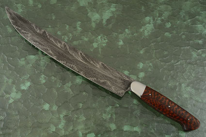 Dragon's Breath Damascus Scimitar (12-3/4 in) with Snakewood