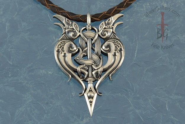 Hugin & Munin Raven Sterling Silver Pendant
