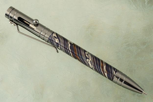Damascus Bolt Action Pen