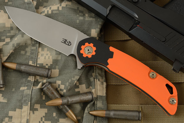 T3 Flipper - Torx Orange and Black G-10 (Ceramic IKBS)