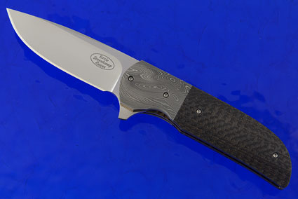 Majesty Flipper with Lightning Strike Carbon Fiber and Damascus (IKBS)