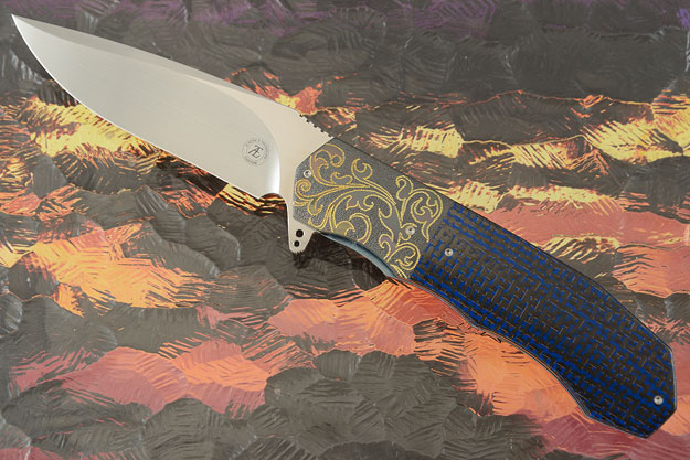 L44M with Blue Lightning Strike Carbon Fiber and Zirconium (Ceramic IKBS)