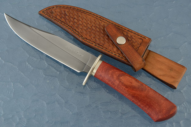 Gentleman's Clip Point Bowie with Red Ivory
