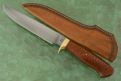 Forged Camp Knife with Leopardwood