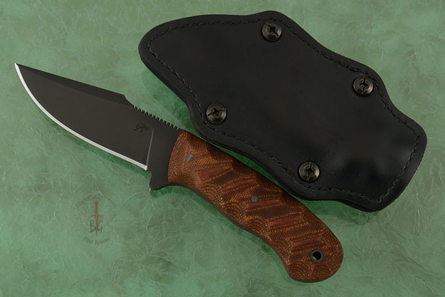 Jaeger with Sculpted Relic Tan Micarta and Caswell Finish (Jason Knight Collaboration)