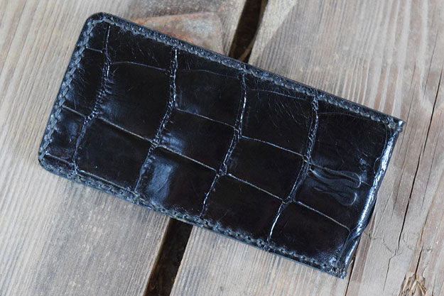 Folding Knife Pouch - Alligator Leather