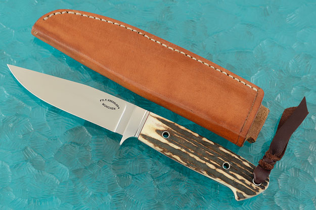 Integral Loveless Style Drop Point Hunter with Stag
