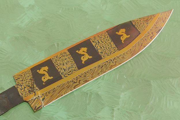Dragon Mosaic Damascus Blade