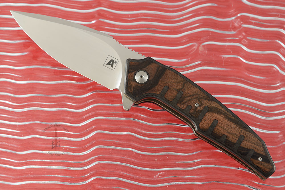 A6 Interframe Flipper with Macassar Ebony and Carbon Fiber (Collaboration with Tashi Bharucha) - Ceramic IKBS