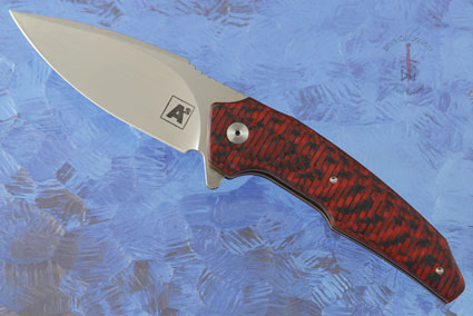 A6 Mini Flipper with Red Carbon Fiber (Ceramic IKBS)