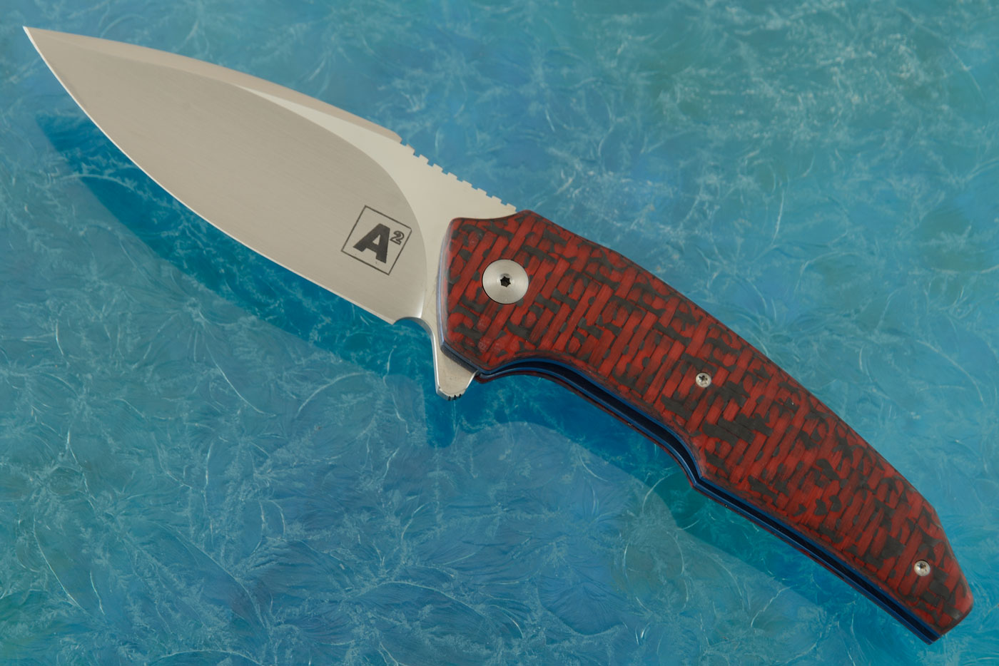 A6 Mini Flipper with Red/Black Carbon Fiber (Ceramic IKBS) - M390